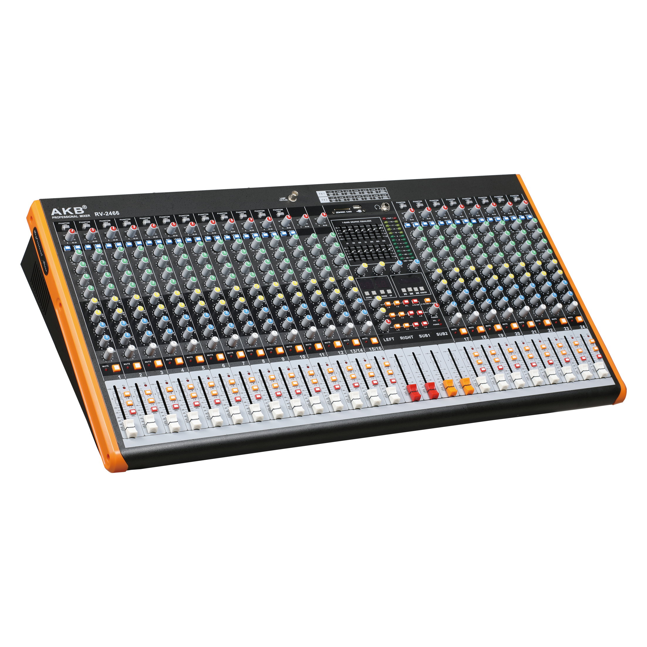 RV-2466 stable quality 24 channel professional mixer console