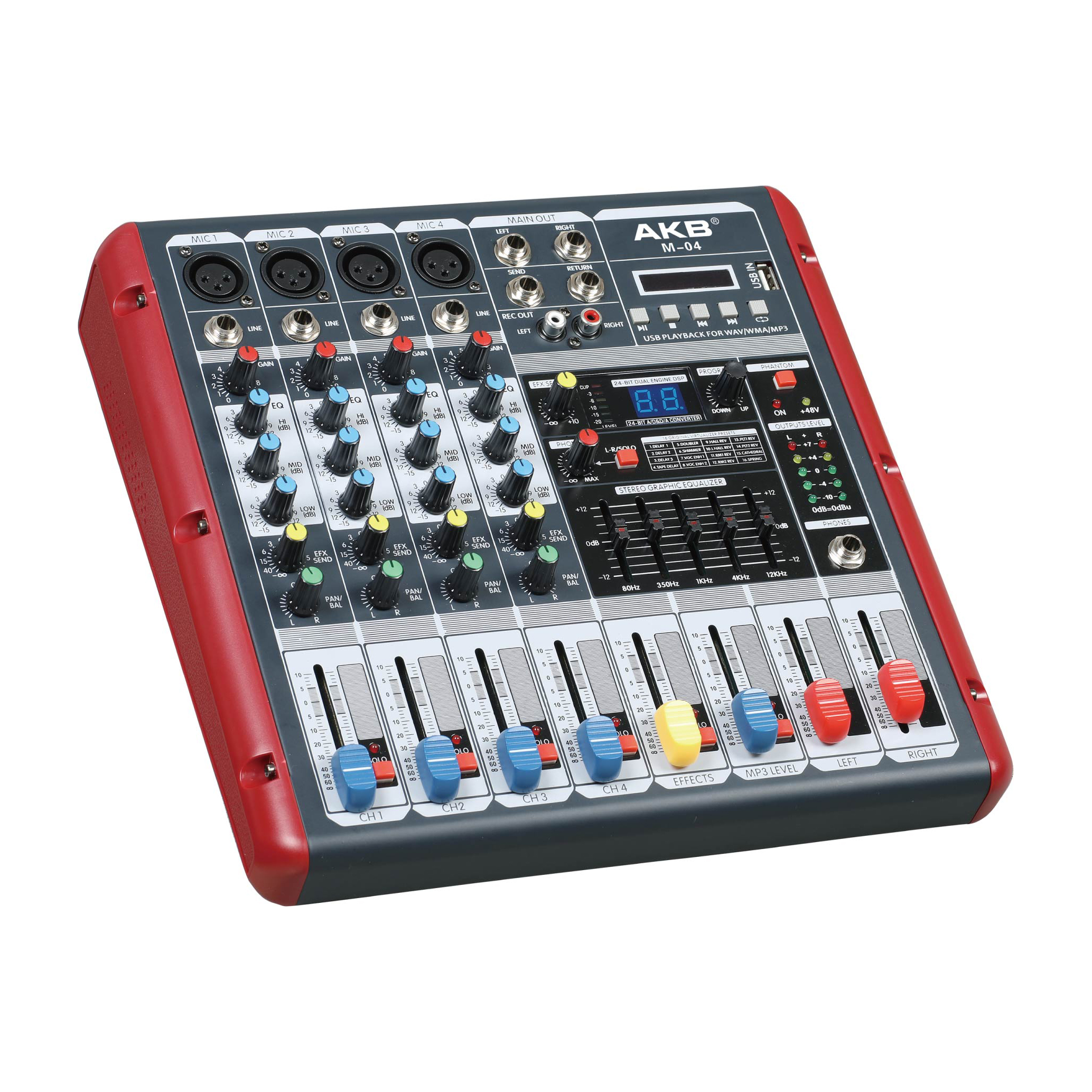 M-04 audio 16 DSP mixer